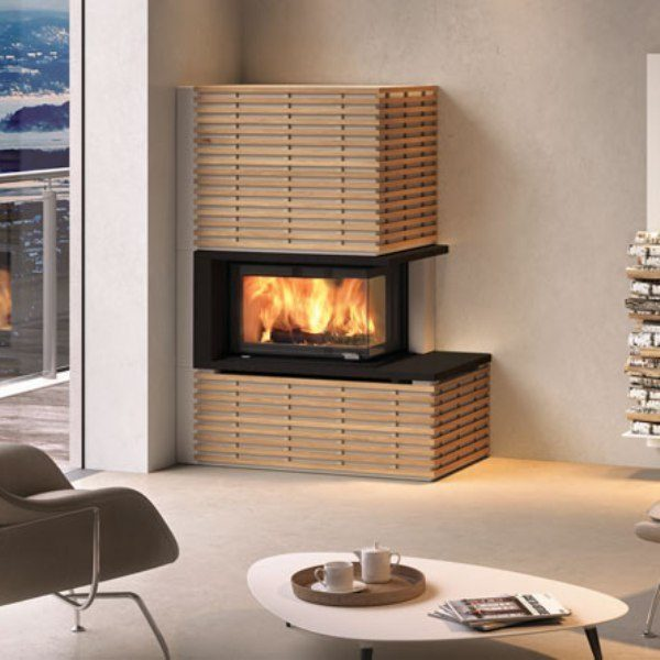 Nordpeis Q34 stove with fargo surround