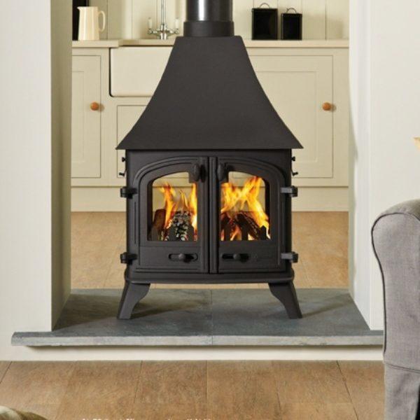 Yeoman Devon double-sided gas stove